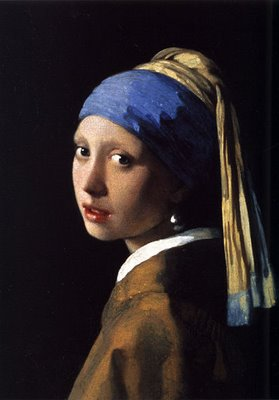 Vermeer Girl with a Pearl Earring (aka Girl In A Turban, Head Of Girl In A Turban, The Young Girl With Turban) 1665