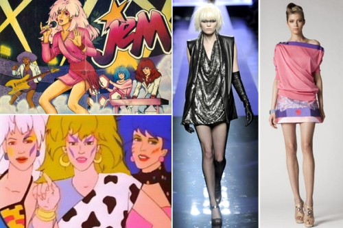 Jem cartoon character pulling a styley on us.